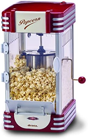 Ariete Party Time Máquina de palomitas XL, 310 W, 2.4 l, Inoxidable/Plastico, Rojo, Color blanco: Ariete: Amazon.es: Hogar