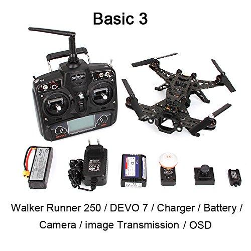 Xiangtat Walkera Runner 250 FPV Racing Quadcopter Drone RTF With Devo 7 & OSD & Hd Camera & Image Transmission Module (Basic 3 Version)