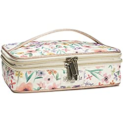 Primrose Hill Calico Canary Collection Cosmetic Double-Zip Train Case