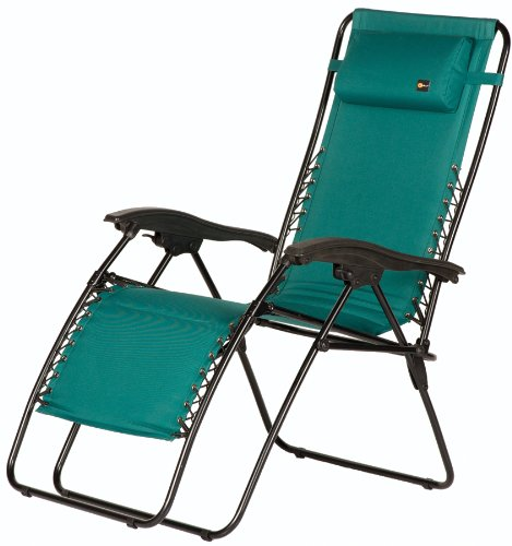 Faulkner 48975 Malibu Style Green Padded Recliner with Plastic Armrests, ()
