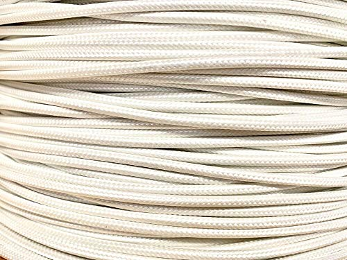100 FT FIBER GLASS BRAID APPLIANCE HI TEMP WIRE MOTOR LEAD SRML WHITE 10 AWG