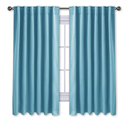 amazon com nicetown window treatment blackout curtains and
