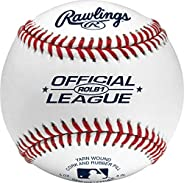 Rawlings ROLB1 Official League Competition Grade Baseballs(Pack of 12)