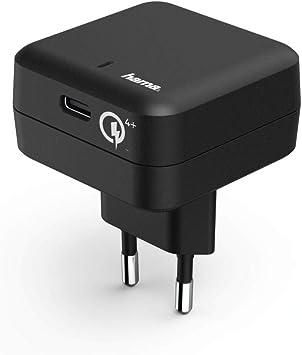 Hama Cargador rápido USB-C, Carga rápida Qualcomm 4+ (Compatible ...