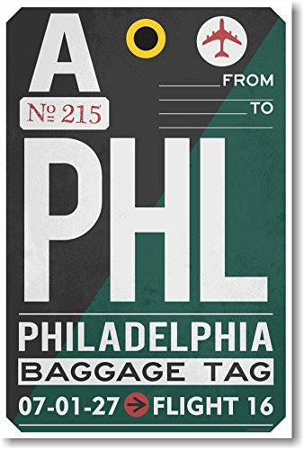 PHL - Philadelphia Airport Tag - NEW Travel - Airport Philadelphia Hours