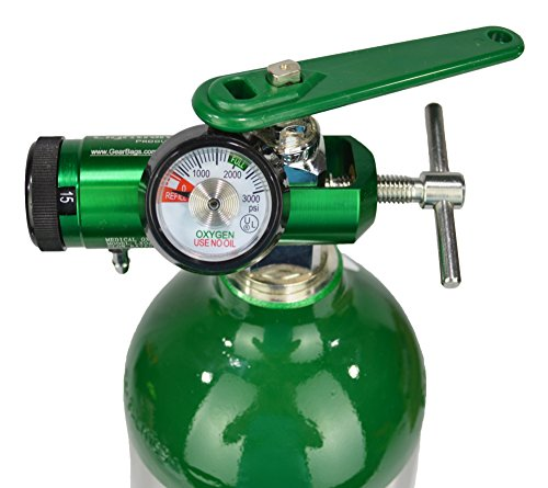 Rate Flow Regulator (Lightning X O2 Mini Oxygen Regulator CGA-870 Gauge Flow Rate 0-15lpm w/ Wrench)