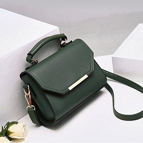 GUANGMING77 Studentinnen Tasche Schultertasche Handtasche Mädchen Single Schultertasche Blackish green