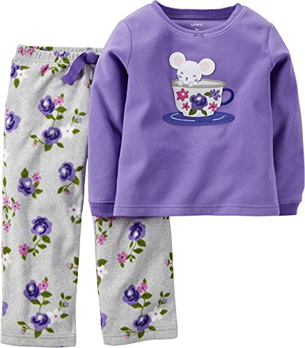 Price comparison product image Carters Toddler Girls Teacup Mouse Pajama Set 2T Purple/white