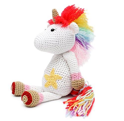 Lil's Fluffy Unicorn Handmade Amigurumi Stuffed Toy Knit Crochet Doll VAC
