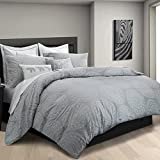 Kenya Elephant King Duvet Cover Set in Grey 100% Cotton, Made in India