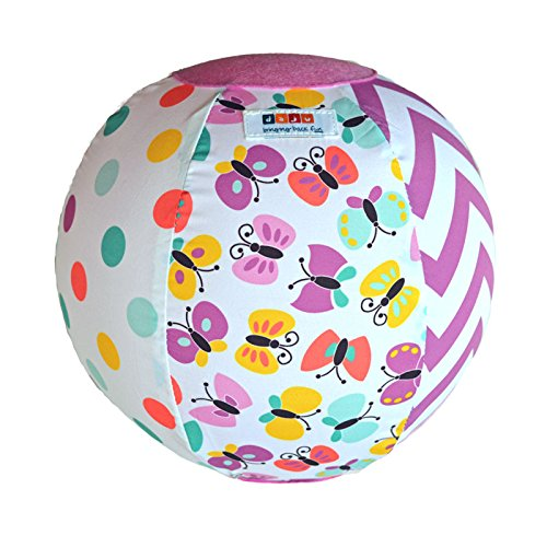 Daju Balloon Ball | Bouncy Toddlers Ball | Fold Up, Take Anywhere Travel Ball | Reusable Fabric Cover for Balloons | Butterfly Design