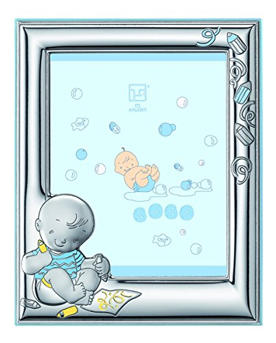 Silver Touch USA Sterling Silver Picture Frame and Booklet Set, Baby Boy (Discontinued by Manufacturer) by Silver Touch USA