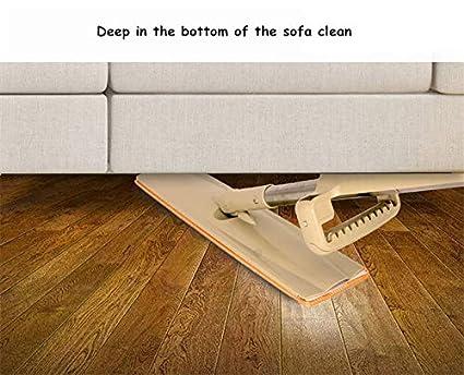Lwvax Plastic Flat Wooden Floor Hands Free Telescopic Washable
