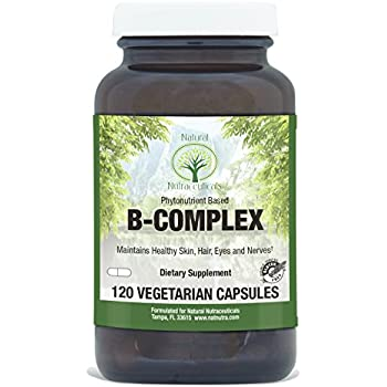 Natural Nutra Whole Food Vitamin B Complex, Energy and Nervous System Health, 120 Vegetarian Capsules