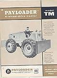 1957 Hough International Model TM Payloader Tractor Brochure