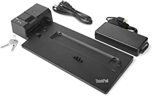 Lenovo USA ThinkPad Ultra Docking Station (P/N; 40AJ0135US ) For P52s, L580, L480, T580, P580p, T480s, T480, X1 Carbon Gen 6, X280 (Renewed)