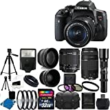 Canon EOS Rebel T6i Digital SLR Camera & 18-55 F3.5-5.6 IS STM & 75-300 f/4.0-5.6 Lens +Telephoto 500mm Lens & 58mm 2x Lens +Wide Angle Lens + Flash +Filter Kit & 32GB Complete Deluxe Accessory Bundle Review
