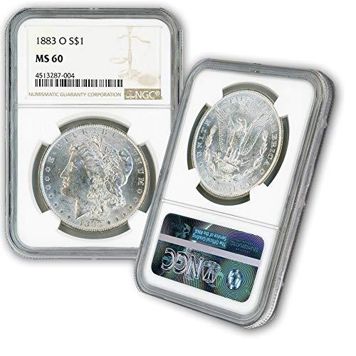 1883 O Morgan Silver Dollar $1 MS60 NGC