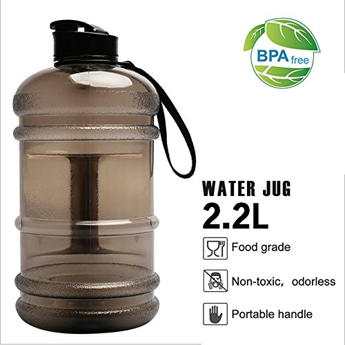 Carejoy 2.2L Water Jugs BPA Free Large Water Bottle Big Capacity Leakproof Water Bottle with Carrying Loop for Men Women Outdoor Sports Fitness Gym Workout Camping Hiking by Carejoy