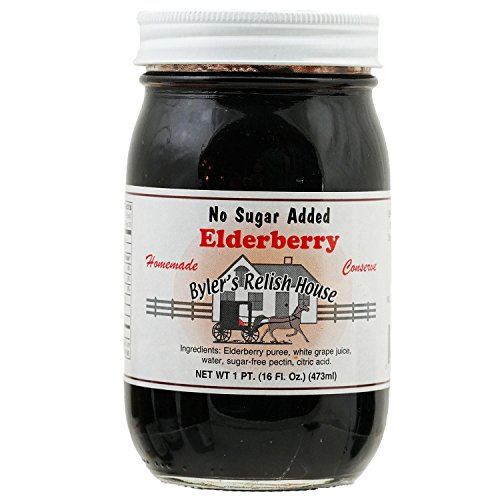 Byler's Relish House Homemade No Sugar Added Elderberry Fruit Spread 16 oz. by Byler's Relish House