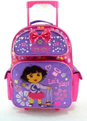 f5c10f4dc Large Rolling Backpack - Dora the Explorer - Let's Play Magic New Bag 618162