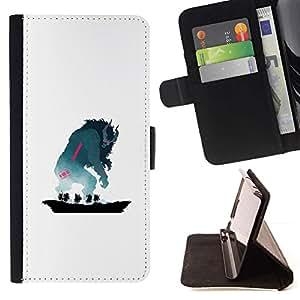Momo Phone Case / Flip Funda de Cuero Case Cover - Monstruo de cuernos - HTC DESIRE 816