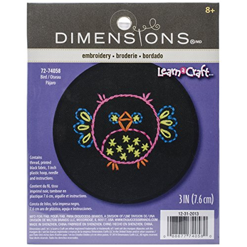 - Dimensions Crafts 72-74058 Bird Embroidery Kit