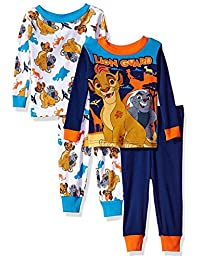 Disney Junior The Lion Guard 4 Piece Cotton Toddler Pajamas for boys (3T)