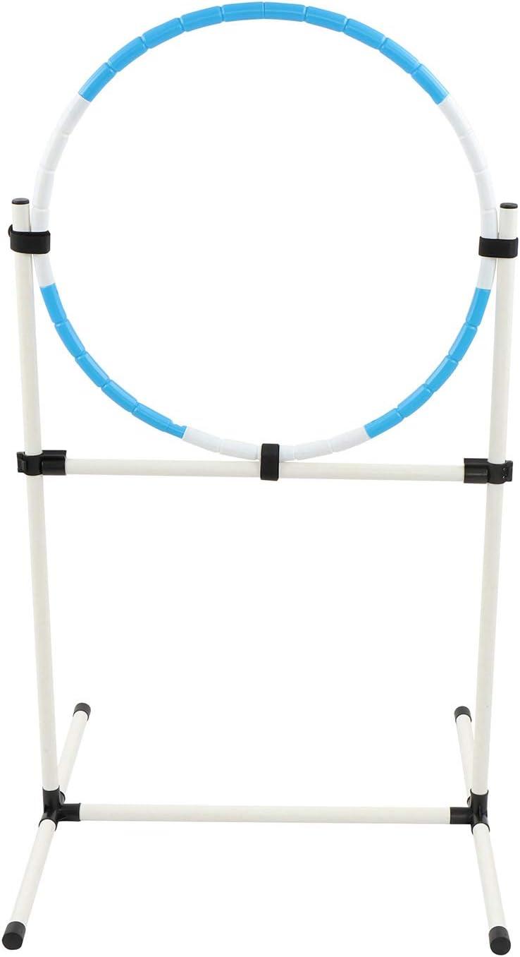 MiMu Agility Hoop Set for Dogs - Backyard Dog Agility Equipment Training Hoop Outdoor and Indoor Dog Agility Course Kit