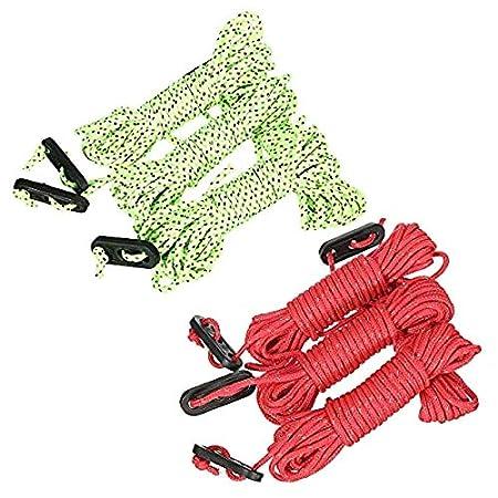 LIUSHUI Cuerda de l/ínea de Cable Reflectante 4Pcs 4M para Tienda de toldo Paracord de Lona de Camping