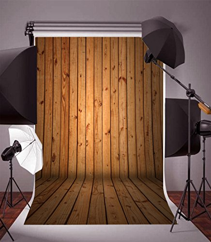 (Leyiyi 5x7ft Vinyl Retro Brown Wood Board Photo Backgrounds Old Wooden Floor Plank Wall Redneck Party Photography Backdrops Pine Timbering Vertical Stripes Shoot Studio Props)