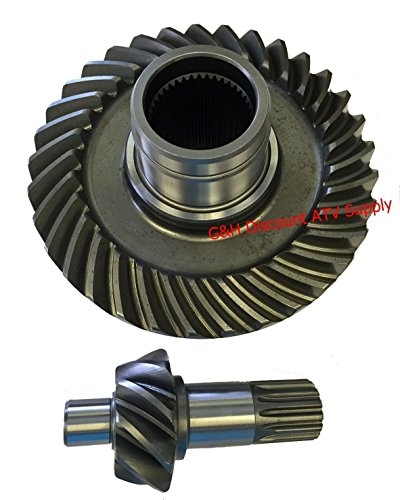QUALITY Yamaha 1995-2005 YFM 350 Wolverine & 1996-1999 FYM 350 Big Bear Rear Differential Ring & Pinion Gear - And Differential Ring Pinion