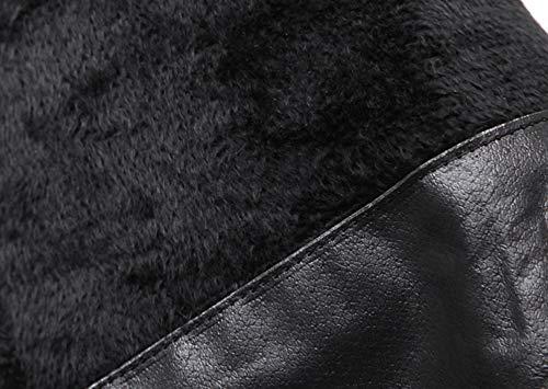 SHANGWU Damen-Frauen SEXY Thigh HIGH Over The Knie Stiefel Sexy Sexy Sexy Oberschenkel Hohe Biker-Stiefel Herbst Winter Fersenabsatz High Heels Elastic Force Stiefel 983009
