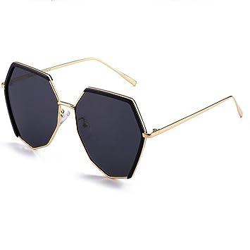 LQQAZY Gafas De Sol Polarizadas Mujer Marea Retro Estilo Harajuku Gafas De Sol Personalidad Gafas Cara