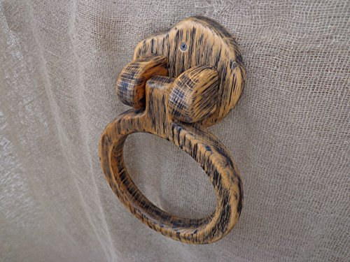 Towel Ring Holder. Wooden Towel Holder, Rustic Bathroom Hand Towel Holder, Kitchen Towel Holder, Wooden Hanger, Towel Hanger