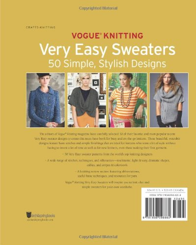 Vogue® Knitting Very Easy Sweaters: 50 Simple, Stylish Designs