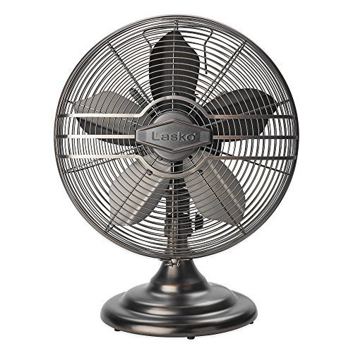 Lasko 12-Inch Classic Table Fan, features 3 quiet speed settings, widespread coverage, Provides Cool in Vintage Style by Lasko