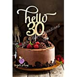 Hello 30 Number Cake Topper