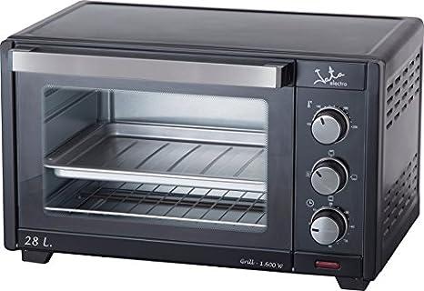 Jata HN628 Horno con grill capacidad 28 litros, 1600 W, 0 Decibeles, Negro