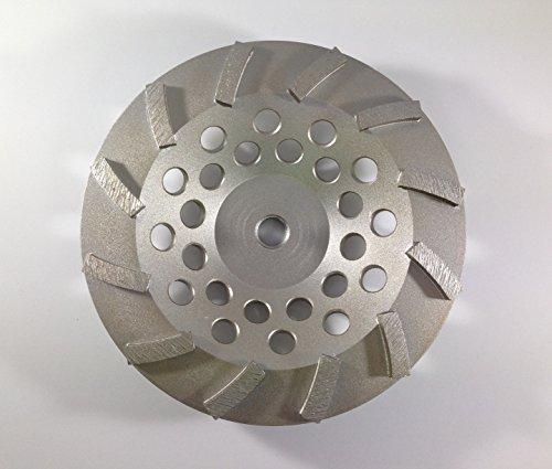 "7-Inch Concrete Grinding Diamond Cup Wheel 12 Segments - 5/8""-11 Thread"