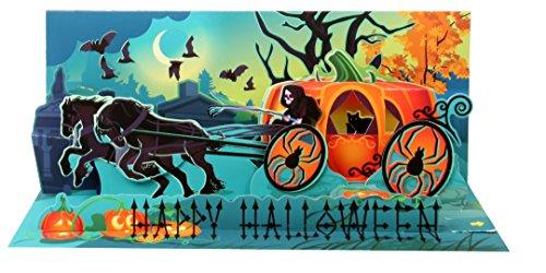 Card Panoramic (Up With Paper Pop-Up Panoramics Sound Greeting Card - Pumpkin Carriage)