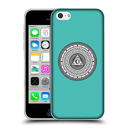 GoGoMobile Coque de Protection TPU Silicone Case pour // Q09650634 Mystique occulte 14 Turquoise // Apple iPhone 5C