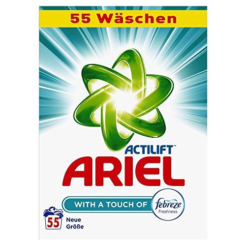Ariel Waschpulver mit Febreze 3.575 kg 55 Waschladungen