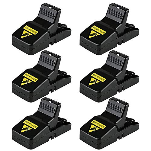 Diaotec Mouse Trap Mice/Rodents/Rats Snap Traps Killer/Catcher Quick Kill That Work - Effective and Reusable Rodent Control (6 Pack)