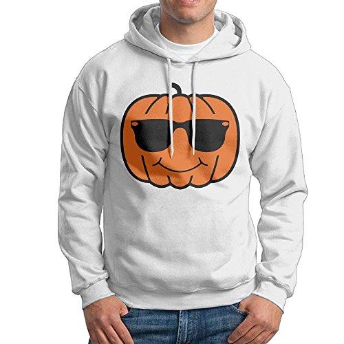 14sdjhs Pumpkin With Sunglasses Men's Fashion Classic Men's Hoodie Sweatshirt Pullover Hoodie No - Sunglasses Printed No Minimum