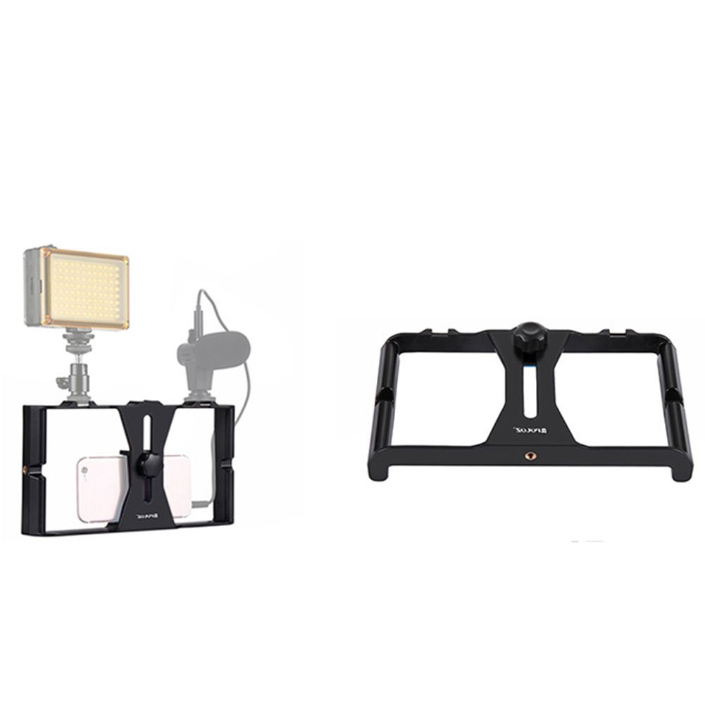 Ocamo Mini Portable Handheld Adjustable Camera Travel Bracket Phone Video Stabilizer