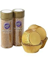 Wilton Sparkle and Shine Gold Cupcake Decorating Set