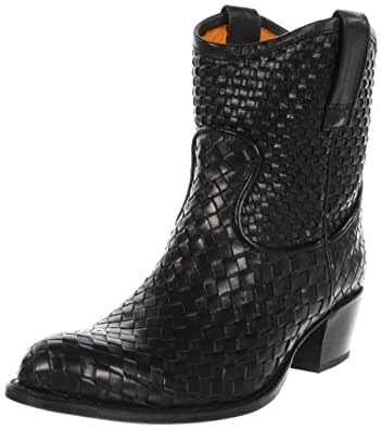 FRYE Women's Deborah Woven Short Boot, Black, 5.5 M US
