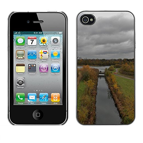 Premio Sottile Slim Cassa Custodia Case Cover Shell // F00004698 temps nuageux // Apple iPhone 4 4S 4G