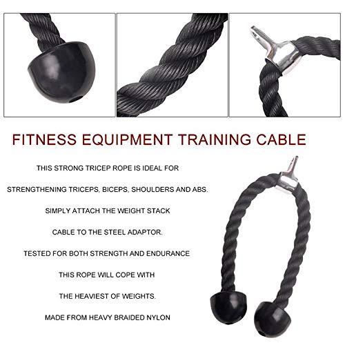 CreameBrulee Heavy Duty tríceps Cuerda Accesorio Culturismo Extremo del cordón de plástico Ejercicio de la Gimnasia: Amazon.es: Deportes y aire libre